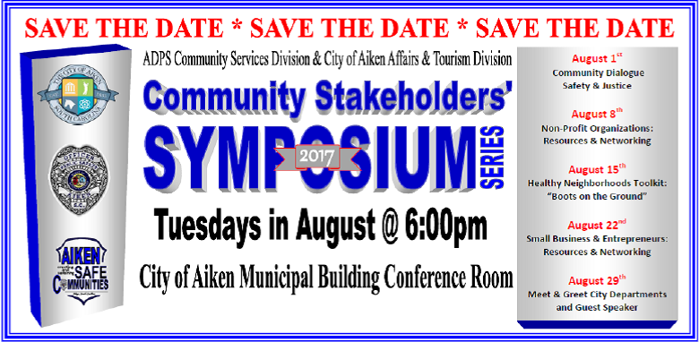 2017 Community Stakeholder's Symposium Begins August 1st