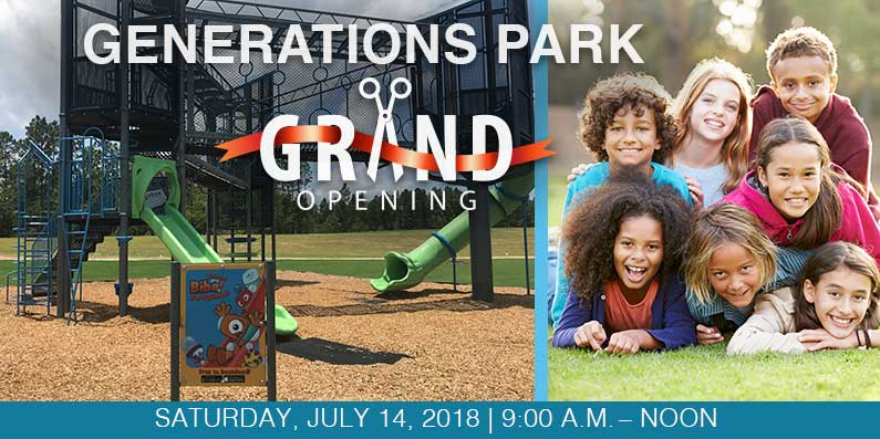 Community Invited To Generations Park Grand Opening