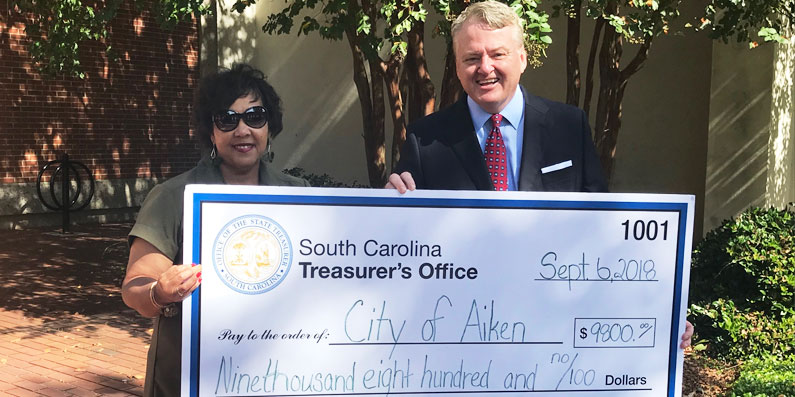 The City of Aiken Receives Unclaimed Funds