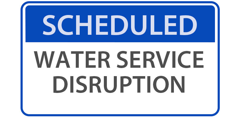 Scheduled Water Service Disruption on Town Creek Road and Kismet Drive