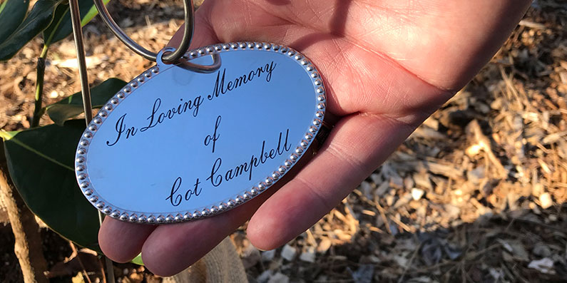 Tree Planted In Memory of Dogwood Stable founder Cot Campbell
