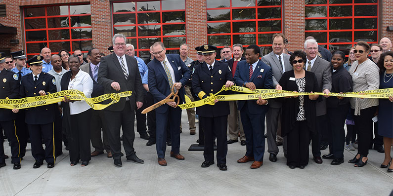 Ribbon Cutting Ceremony For New Public Safety Headquarters