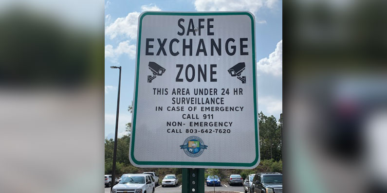 Safe Exchange Zone created at ADPS Headquarters: