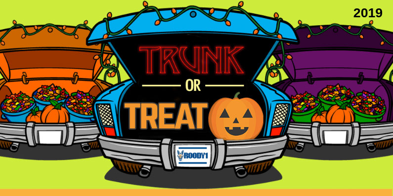 Spooky Times, Ghostly Days, Trunk or Treat 2019 Is On Its Way