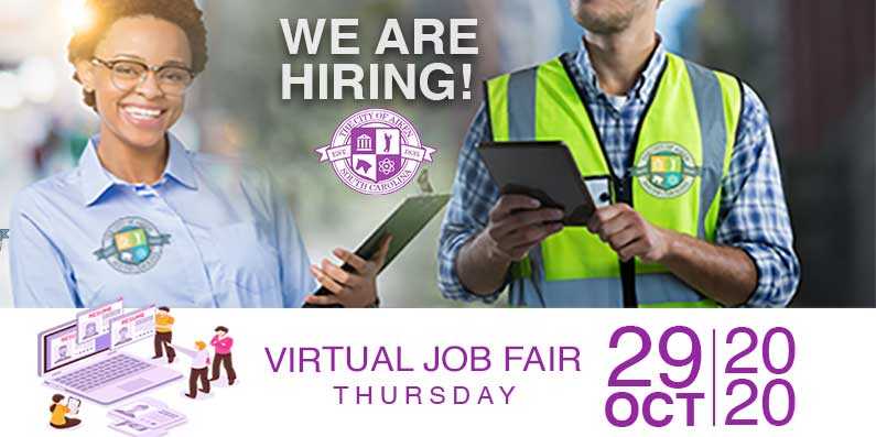 Virtual Hiring Event Scheduled For October 29th